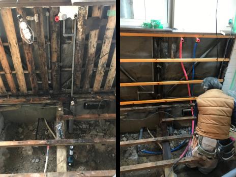 キッチンのリフォーム施工過程の写真3