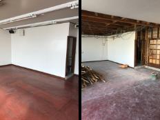 洋室とトイレのリフォーム施工過程の写真1